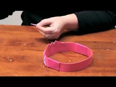 How to Decorate a Foam Tiara : DIY Crafts