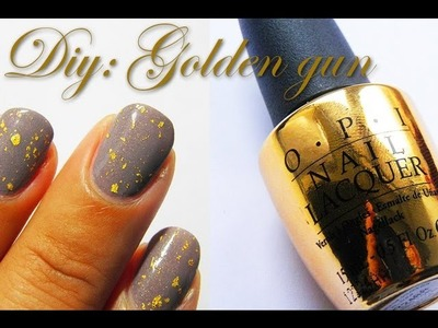 HOW TO: DIY OPI Gold 18 carat nail foils tutorial