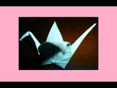 How to fold Origami Crane. Swan - Easy - Paper Crafts for Kids - Non-Flapping - Puffy Body