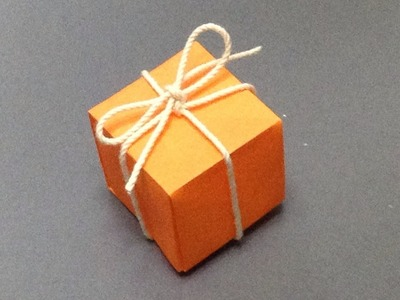 """How to make a present box """"origami"""""""