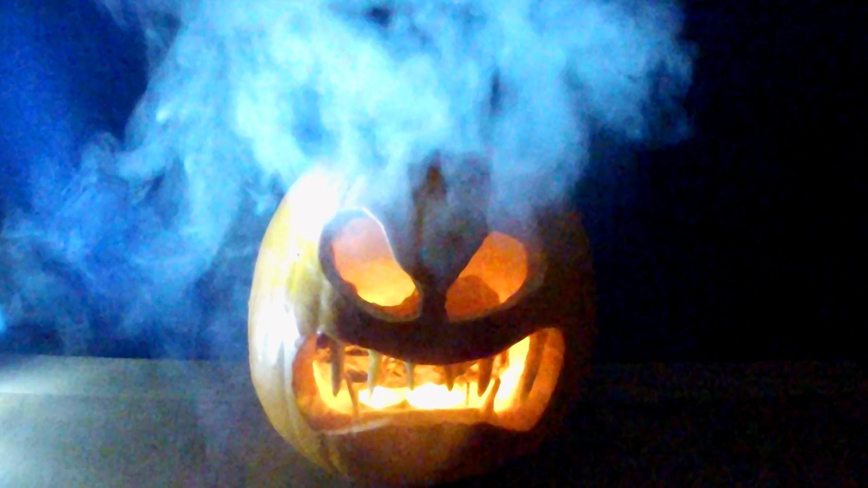 How to Make a Smoking Pumpkin - Halloween Jack o Lantern