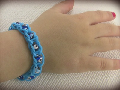 How to make blue bracelet with beads
