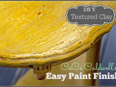 How to paint and distress furniture, CeCe Caldwell Paint (textured clay finish)