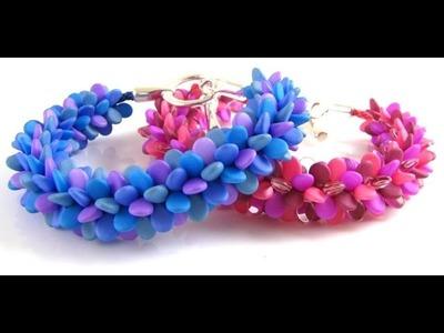 Kumihimo Pip Bead Bracelet Tutorial