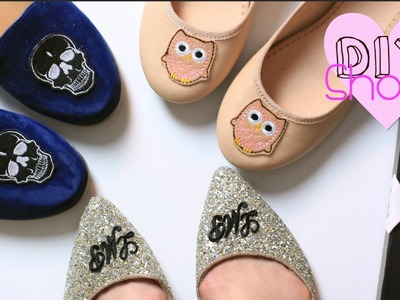 Last Minute Gift DIY Shoes| Monogram.Skull.Owl