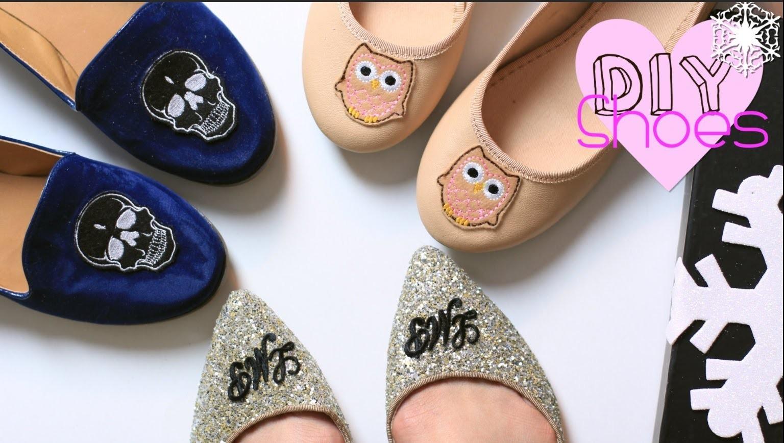 Last Minute Gift DIY Shoes| Monogram.Skull.Owl