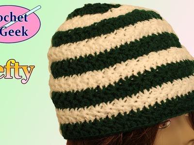 Left Hand Crochet Star Stitch Hat Crochet Geek