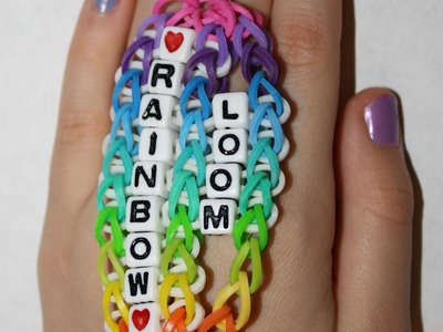 "Make NEW rainbow loom ""Double beaded Stingray"" design"