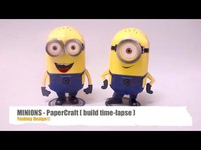 Minions PaperCraft - build time-lapse.