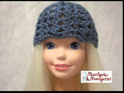 "My Size Barbie Doll (36"") Assorted Crochet Hats ~ Marilyn's Menagerie"
