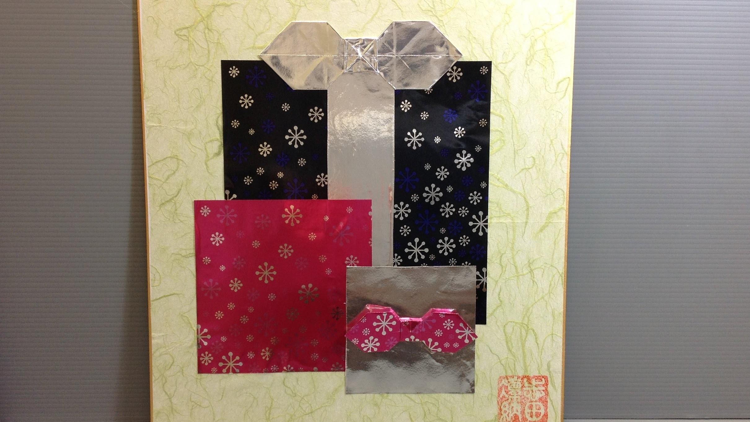 Origami Christmas Presents Display - How to Make Origami Shikishi