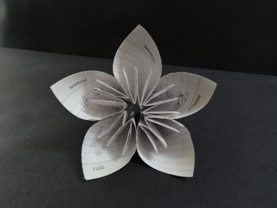 Origami Flower Tutorial - How to fold a Kusudama Flower