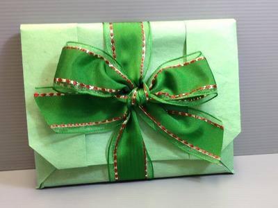 Origami Handbag Wrap for a Blu-Ray Disc for the Holidays