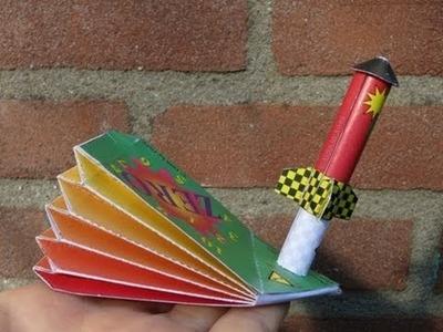 Papercraft - flying rocket - tutorial -dutchpapergirl