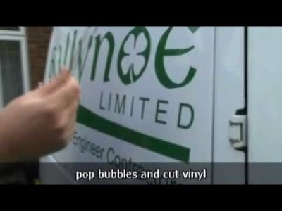 PART 2 - DIY Van Signs: How to Signwrite with Vinyl Graphics