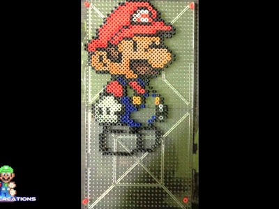 Perler Bead Creation: Paper Mario Time Lapse [HD]