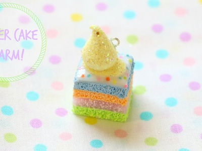 Polymer Clay Easter Cake Charm Tutorial