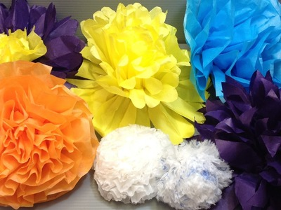 Pretty and Easy Tissue Paper Flowers Origami