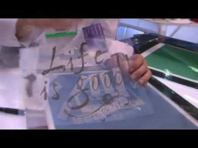 Provo Craft Demo Yudu Personal Silk Screen Printer with Joyce Chow