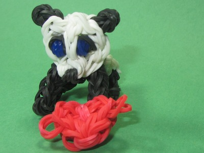 Rainbow Loom Charms: PANDA  Charm (stands on all fours): How to Design. Tutorial (DIY Mommy)