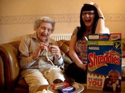 Shreddie's Knitting Nana video for Barbara B