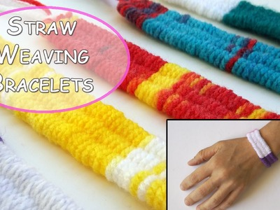 Straw Weaving wool Bracelets - Ana | DIY Crafts
