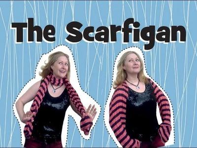 The Scarfigan: a fantastic scarf to cardigan refashion tutorial