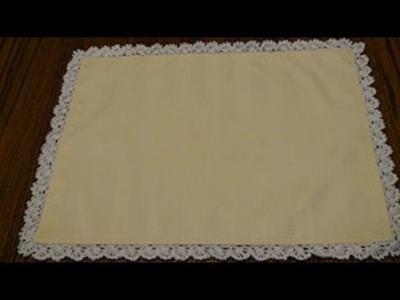 Thread Crochet Edging for Placemat - Blanket Stitch Crochet Geek