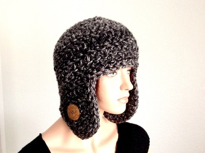 Tutorial: How to Crochet an Earflap Winter Beanie