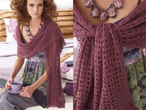 #24 Lace Stole, Vogue Knitting Early Fall 2010