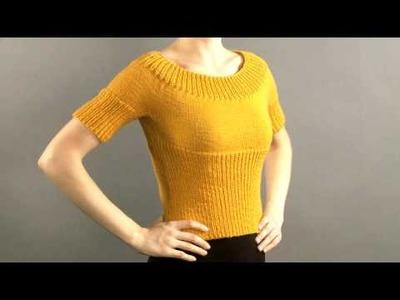 #28 Ribbed Pullover, Vogue Knitting Holiday 2008