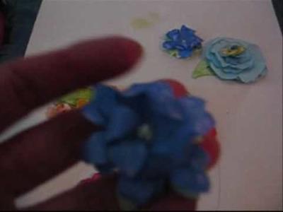 3d paper flower tutorial using the retro paper shaper flower punch