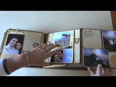 Álbum luna de miel. Honeymoon album. DIY Scrapbook