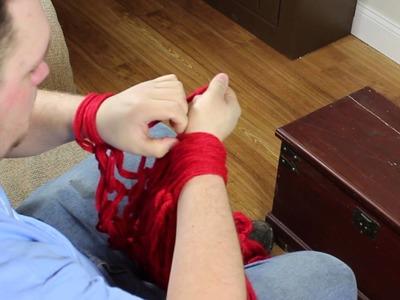 Arm Knitting - Infinity Scarf