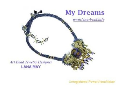 Art Beaded Necklaces. Designer Lana May