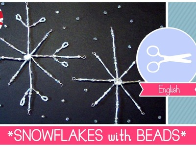 Christmas Crafts: How to make Snowflakes Decorations with Beads - DIY Tutorial