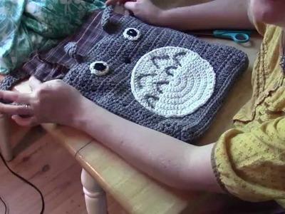Crochet A Totoro Purse Part 2: Lining