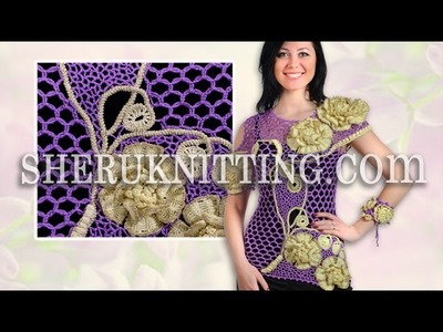 Crochet Floral Blouse With Bracelet Model 23 Crochet Summer Blouse
