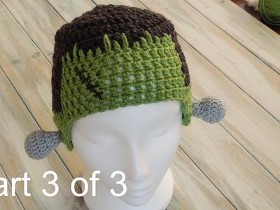 (crochet) Pt3: How To Crochet a Frankenstein Hat - Yarn Scrap Friday
