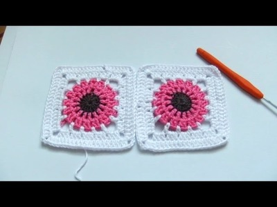 Crochet tutorial:  How to crochet a granny square for beginners step by step