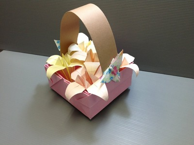 Daily Origami: 087 - Easter Basket with Iris