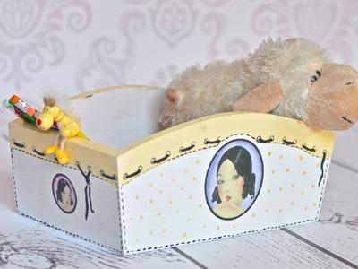 Decoupage tutorial - box for a girl
