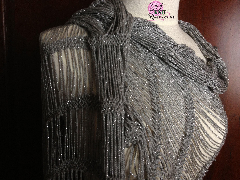 Dew Drop Shawl loom along pattern on the AllnOne