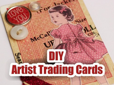 DIY Artist Trading Cards - Whitney Crafts