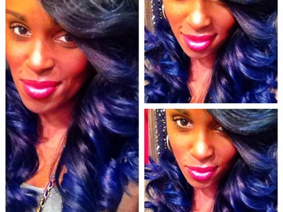"DIY | BLUE.PURPLE HAIR TUTORIAL | HOW I GOT MY ""BLURPLE"" HAIR!"