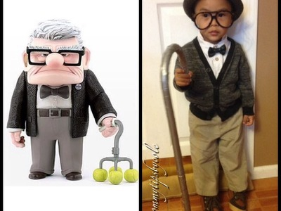 "DIY Disney's ""UP"" COSTUME - Mr. Fredrickson aka Grandpa from UP (Under $5)"