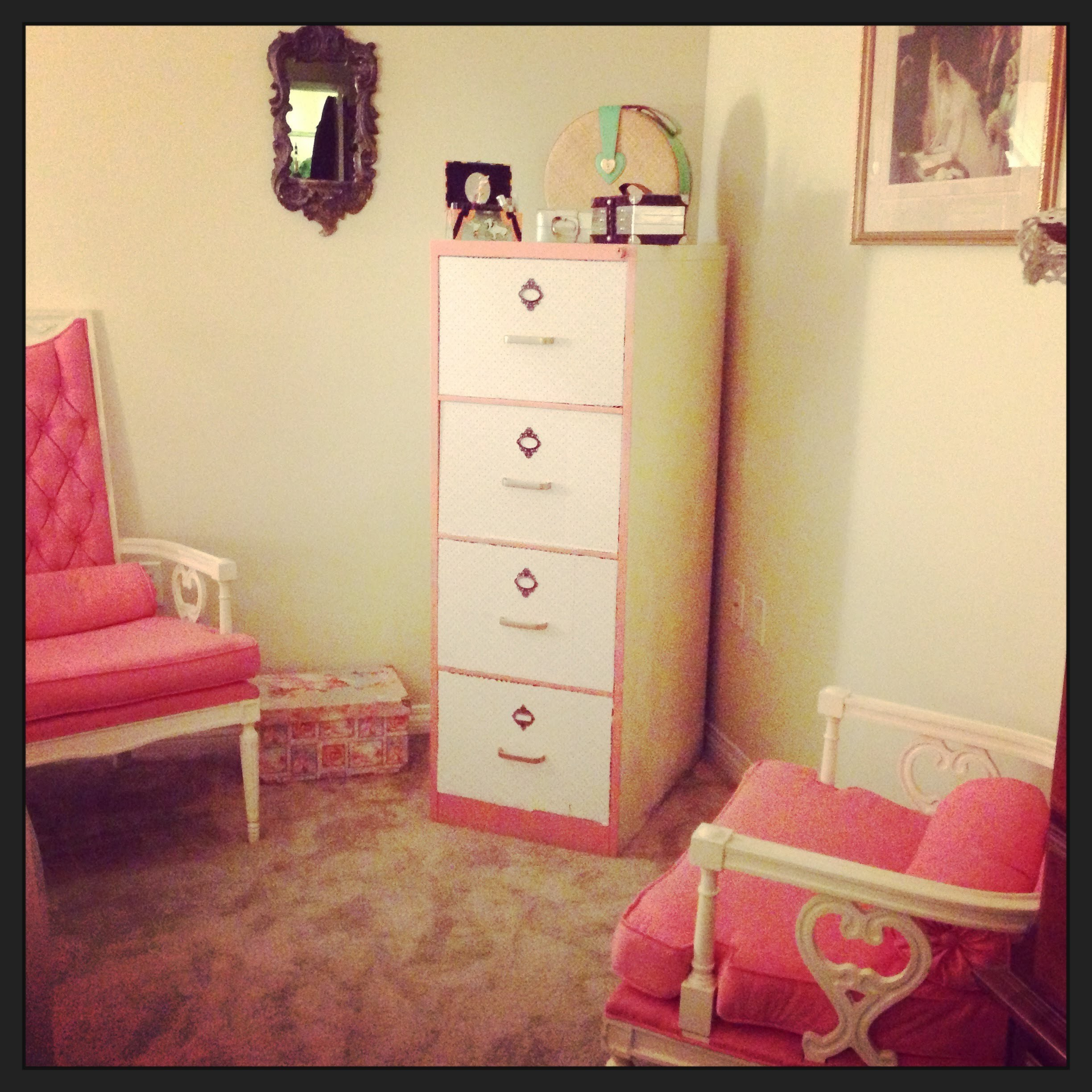 DIY Fun!!! Make a metal file cabinet into a nice accent piece for any room