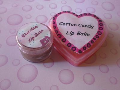 DIY: Lip Balm. Gloss (Pink and Chocolate )