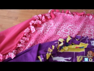 DIY: Make Your Own No-Sew Blanket with Fringes!!! Best Gift Idea!!