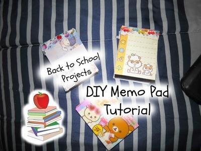 DIY Memo Pad Tutorial | Back to School Projects